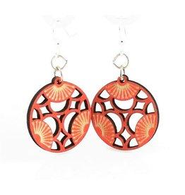 Green Tree Earrings Wood-Tri Blossoms