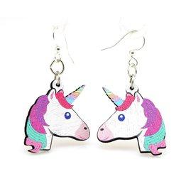 Green Tree Earrings Wood-Unicorn