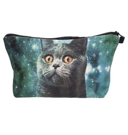 Sihnderella Make Up Bag-Digital Blue Cat