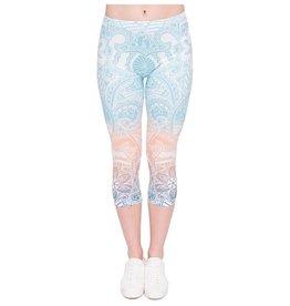Sihnderella Leggings-Capri Yoga Mandala Mint