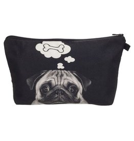 Sihnderella Make Up Bag-Digital Pug Dog Bone