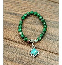 Isac Trading Bracelet-Epidote Gemstone & Turquiose