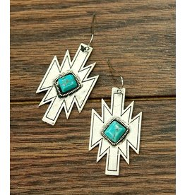 Isac Trading Earrings-Turquoise Aztec