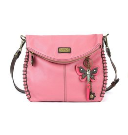 Chala Bags Shoulder Bag-Charming, Mini Butterfly, PINK