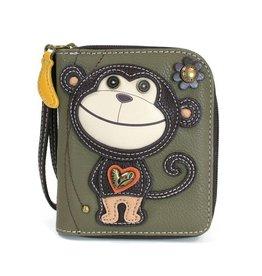 Chala Bags Wallet-Zip Around-Smartie Monkey
