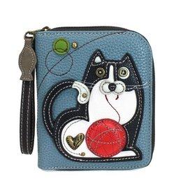 Chala Bags Wallet-Zip Around-Fat Cat