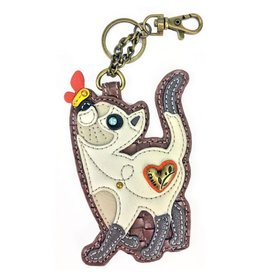 Chala Bags Key Fob, Coin Purse-Slim Cat
