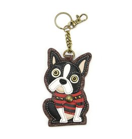 Chala Bags Key Fob, Coin Purse-Boston Terrier