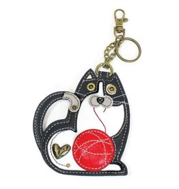 Chala Bags Key Fob, Coin Purse-Fat Cat
