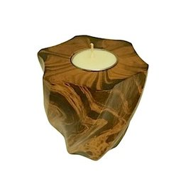 "Circa Home 55 Wave Pillar Candle Holder-""BROWN MARBLE"""