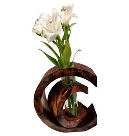 "Circa Home 55 MW ""C"" Vase - Brown Marble"