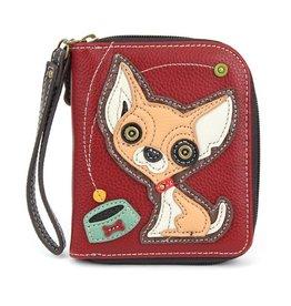 Chala Bags Wallet-Zip Around-Chihuahua