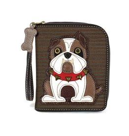 Chala Bags Wallet-Zip Around-Bulldog