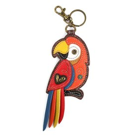 Chala Bags Key Fob, Coin Purse-Parrot-RED