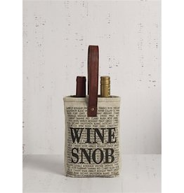Mona B Wine Bag Double-'Wine Snob'