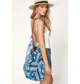 Urbanista Hobo Bag-Blue Tribal Patchwork