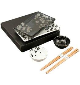 Sushi for 2 (6pc Set)-'Black n White'