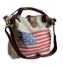 Shoulder Bag-American Flag Grommet