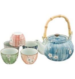 Tea Set-Porcelain 'Blossoms' (7pc)