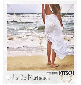 Kitsch Kitsch-Lets Be Mermaids Gold Set of Necklace & Earrings