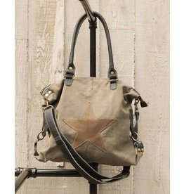 Chloe & Lex Shoulder Bag-Canvas Star