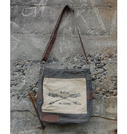 Chloe & Lex Crossbody Bag-Canvas The Journey