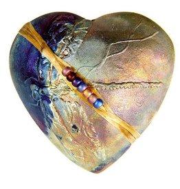 J Davis Studio Innerspirit Rattle-Raku Heart Dragonfly