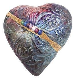 J Davis Studio Innerspirit Rattle-Raku Heart Butterfly