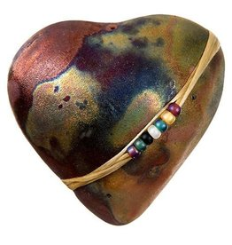 J Davis Studio Innerspirit Rattle-Raku Heart Smooth Sailing