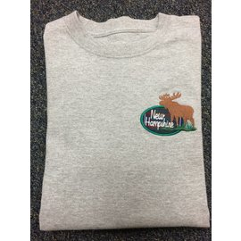 DF Embroidery New Hampshire NH Tartan Moose T-shirt L/S