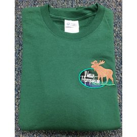 DF Embroidery New Hampshire NH Tartan Moose T-Shirt S/S