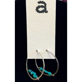 Amy Vander Els Turquoise Sterling Silver Hoop Earrings