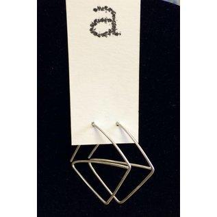 Amy Vander Els Sterling Silver Square Earrings