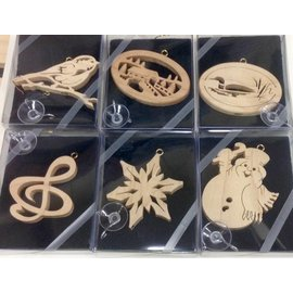 Artasia Wood Cut Ornaments