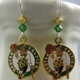 Beadwitching Jewelry Boston Celtics Earrings