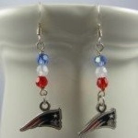 Beadwitching Jewelry Patriots Earrings