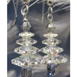 Beadwitching Jewelry White Christmas Silver Earrings