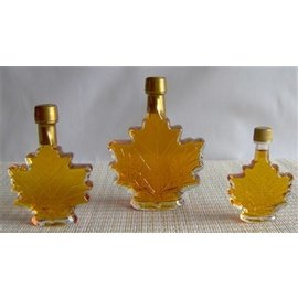 D&D Sugarwoods Maple Leaf Bottle Vermont Maple Syrup