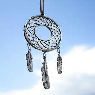 Danforth Pewter Pewter Dream Catcher with Feather