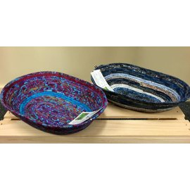 Fernhaven Quilting and Crafts Fabric Pottery Oval Basket