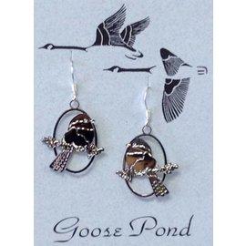 Goose Pond Chickadee Earrings