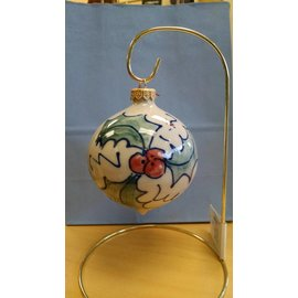 Great Bay Pottery Pottery Holly Ornament
