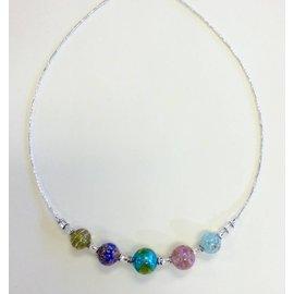 Joan Major Designs Pastel Round Bead Necklace