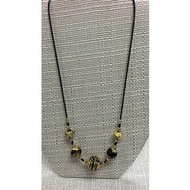 Joan Major Designs Gold/Black Round Bead Necklace