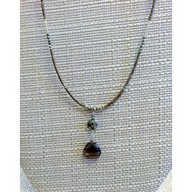 Joan Major Designs Smokey Drop Necklace
