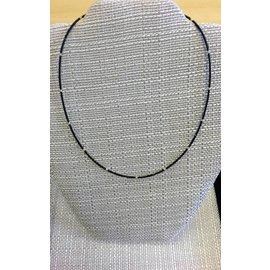 "Joan Major Designs 16"" Black/Gold Seed Bead Necklace"