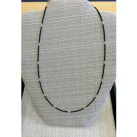 "Joan Major Designs 18"" Black/Gold Seed Bead Necklace"