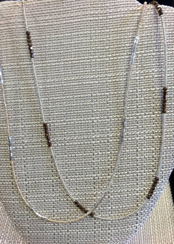 Joan Major Designs Silver Seed Bead Necklace Marketplace New