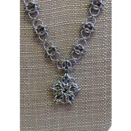 Knitting Metal Celtic Star Necklace