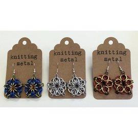 Knitting Metal Celtic Star Earrings